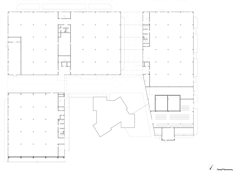 factory building 1F plan gad · line+ studio}
