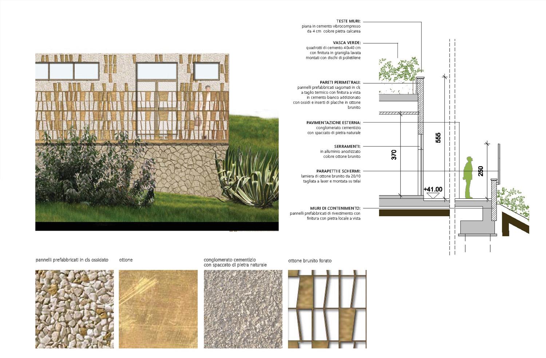 Sezione di dettaglio e finiture Frigerio Design Group}
