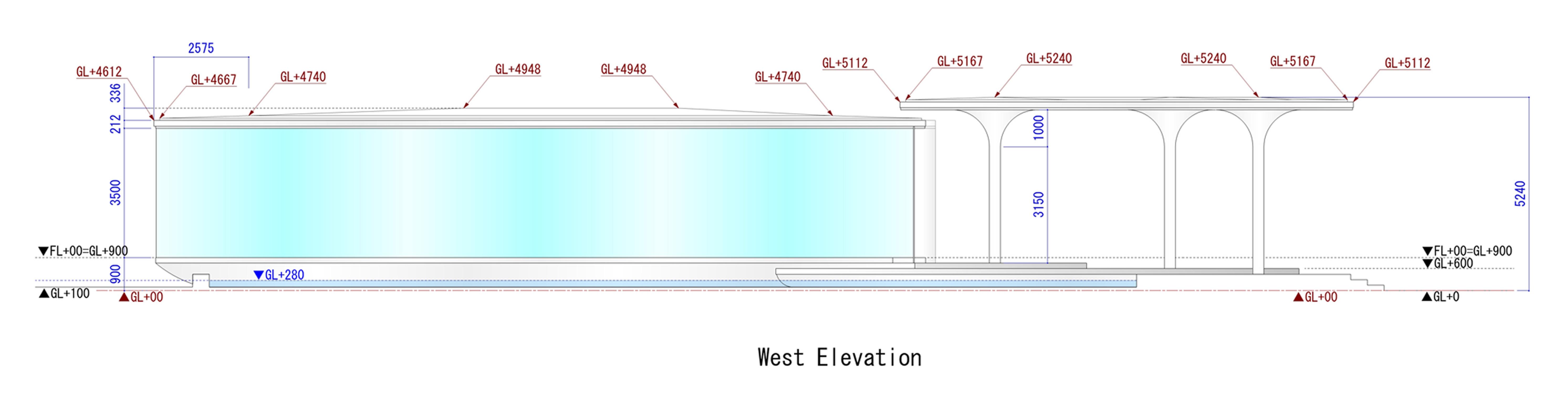 West Elevation KTX archiLAB}