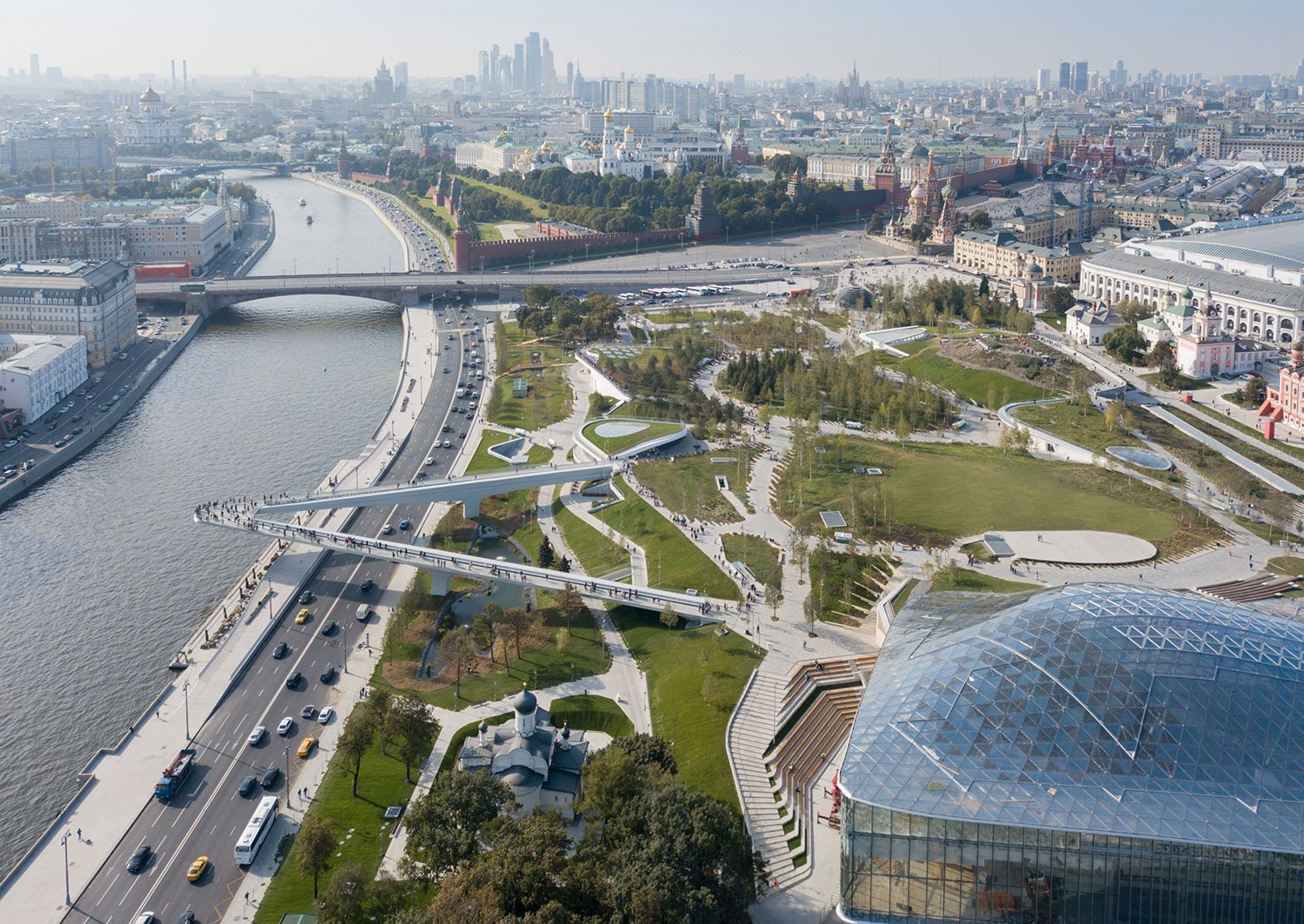 Zaryadye Park Aerial Photography by Iwan Baan