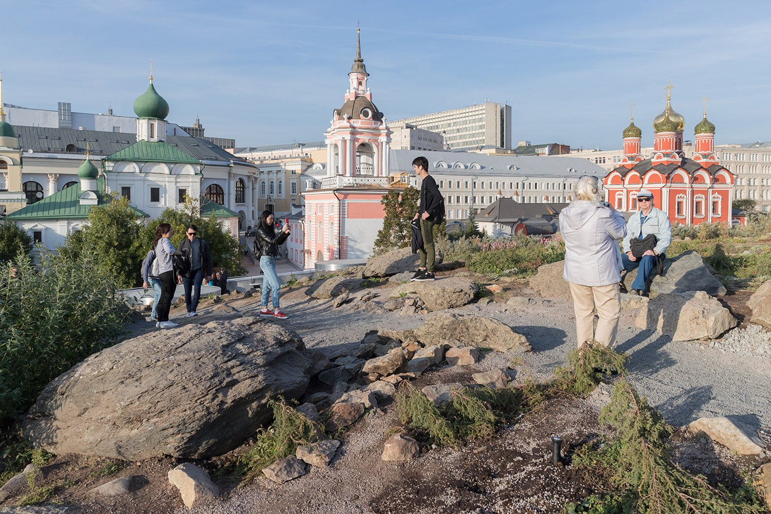 Tundra / Northern Landscape Zone: View of Historic Churches, Zaryadye Park Photography by Iwan Baan