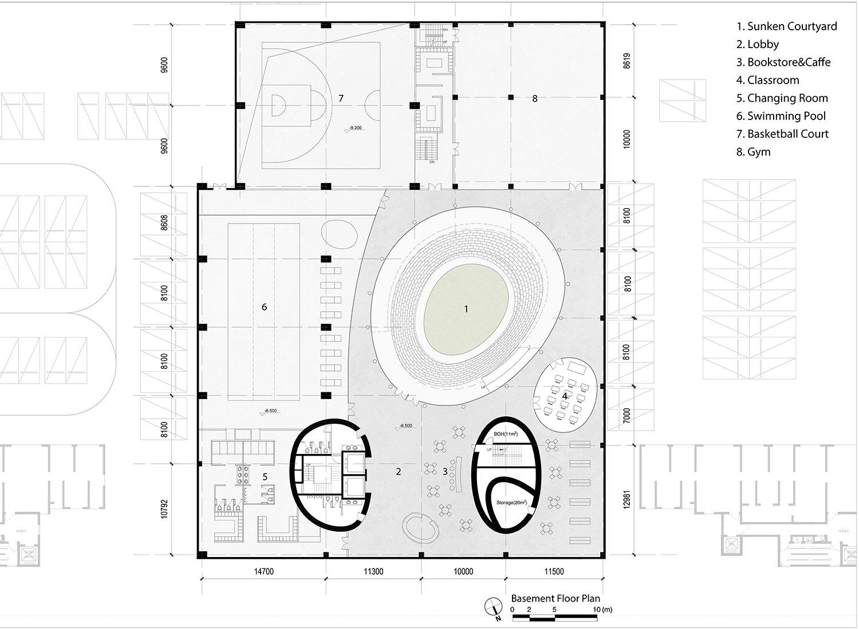 Level B1 Floor Plan EID Architecture}