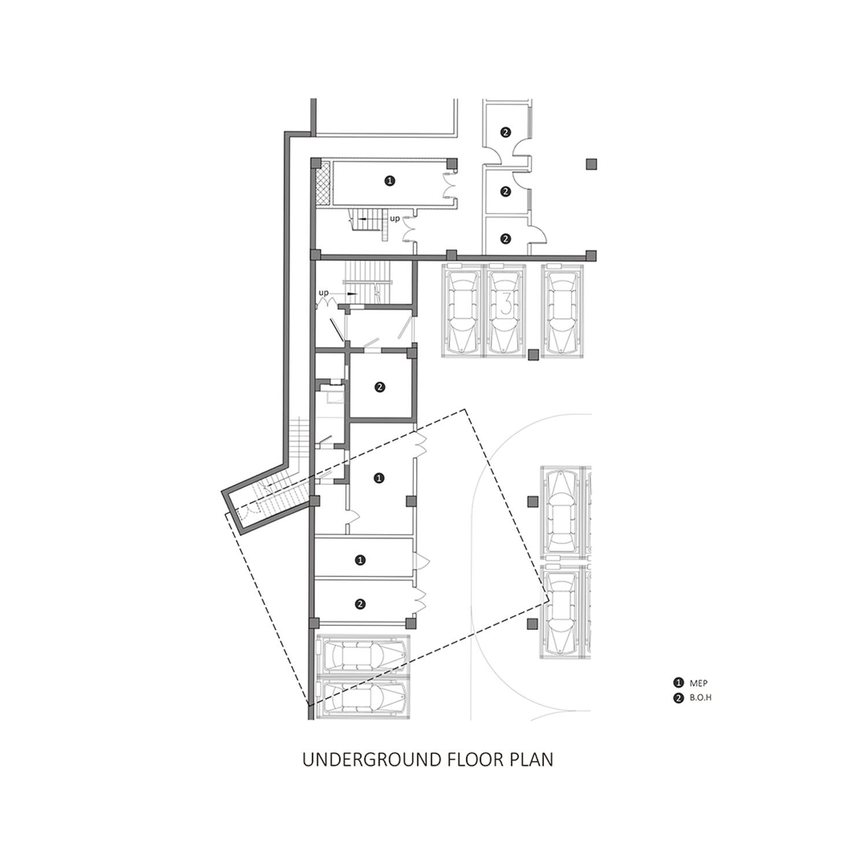 Underground Floor Plan EID Architecture}
