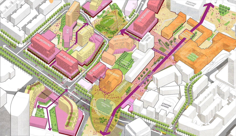 Public Realm for Proposed Party School Block Sasaki}