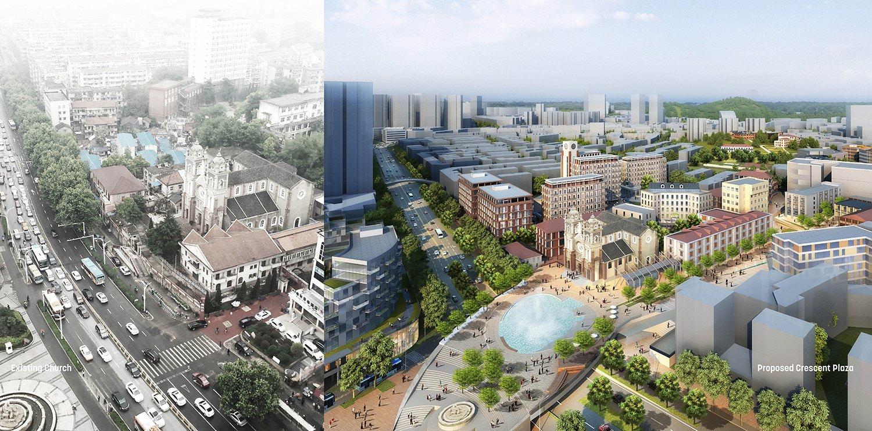 Proposed Overpass Plaza Sasaki}