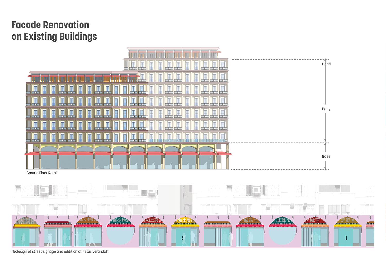 Facade Renovation on Existing Buildings Sasaki}