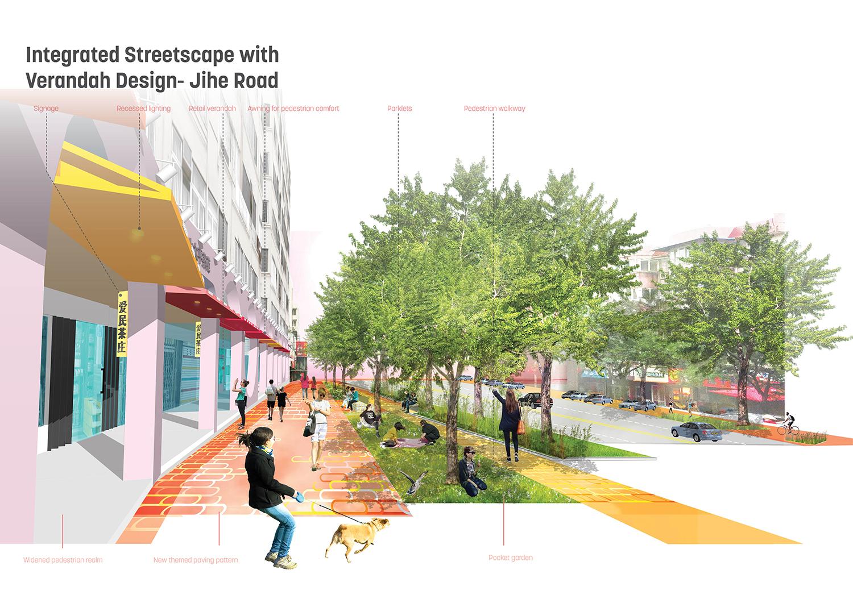 Integrated Streetscape with Verandah Design Sasaki}