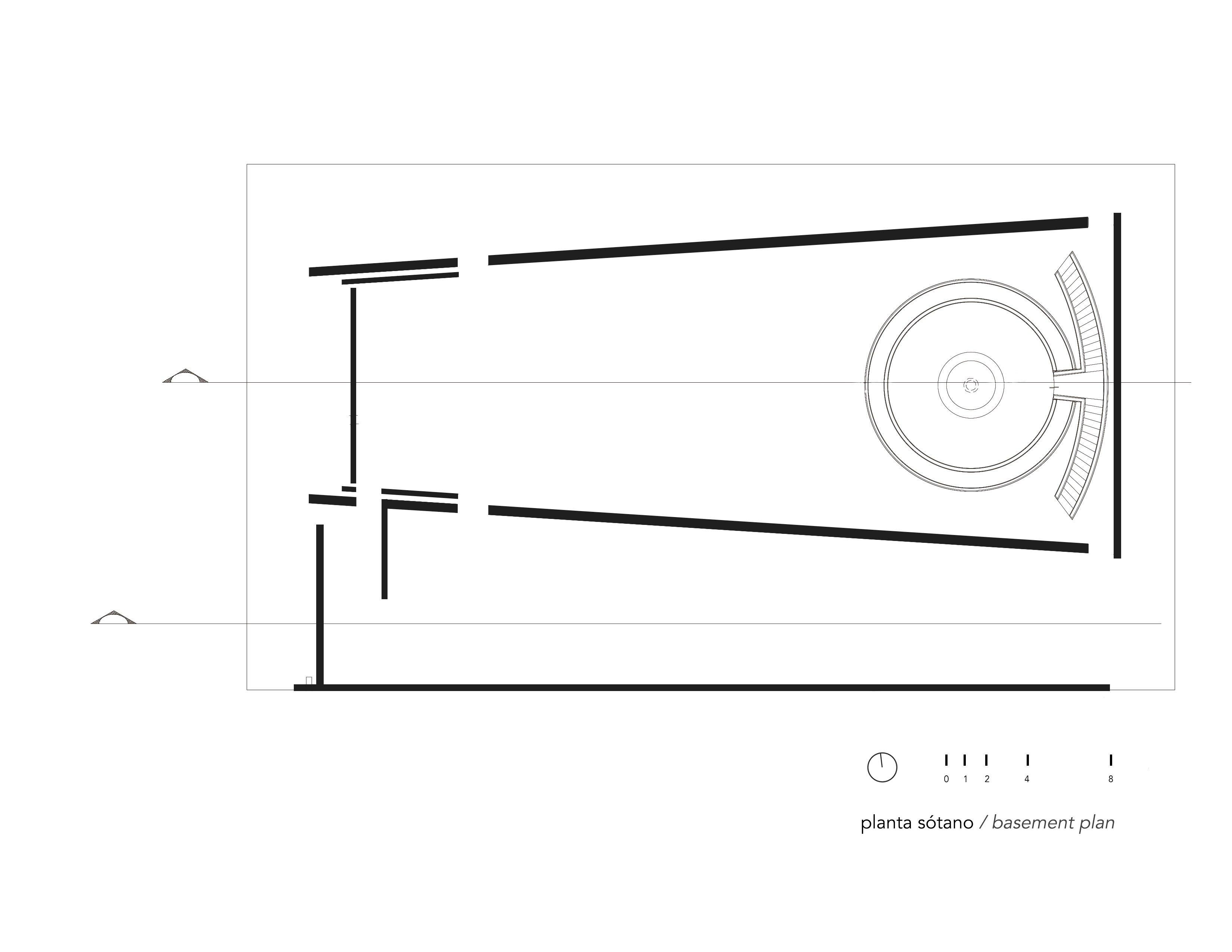 Basement plan Ricardo Yslas Gámez Arquitectos}