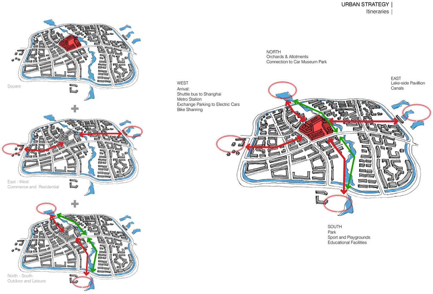 Urban Strategy - Central Square and 4 axis Kokaistudios}
