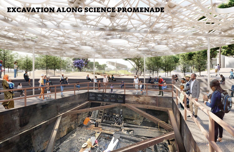 Excavation along science promenade WEISS/MANFREDI