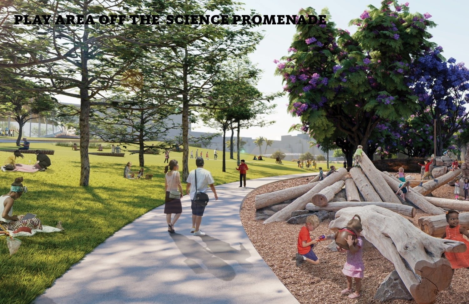 Play area off the science promenade WEISS/MANFREDI