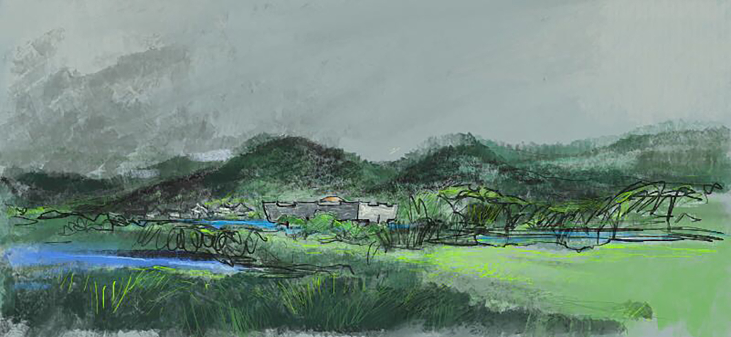 hand draw sketch The Architectural Design & Research Institute of Zhejiang University}