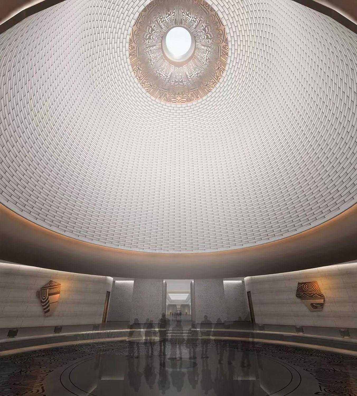 Da Yu Memorial Hall - Interior rendering © UAD