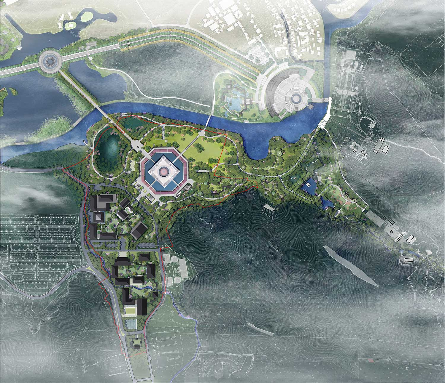 Site Plan The Architectural Design & Research Institute of Zhejiang University}