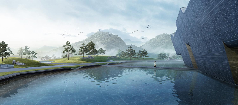 Da Yu Memorial Hall - Water scenery © UAD