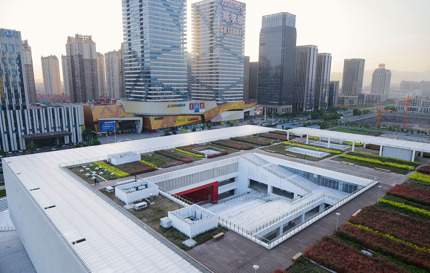 Part of the rooftop garden © Zhao Qiang