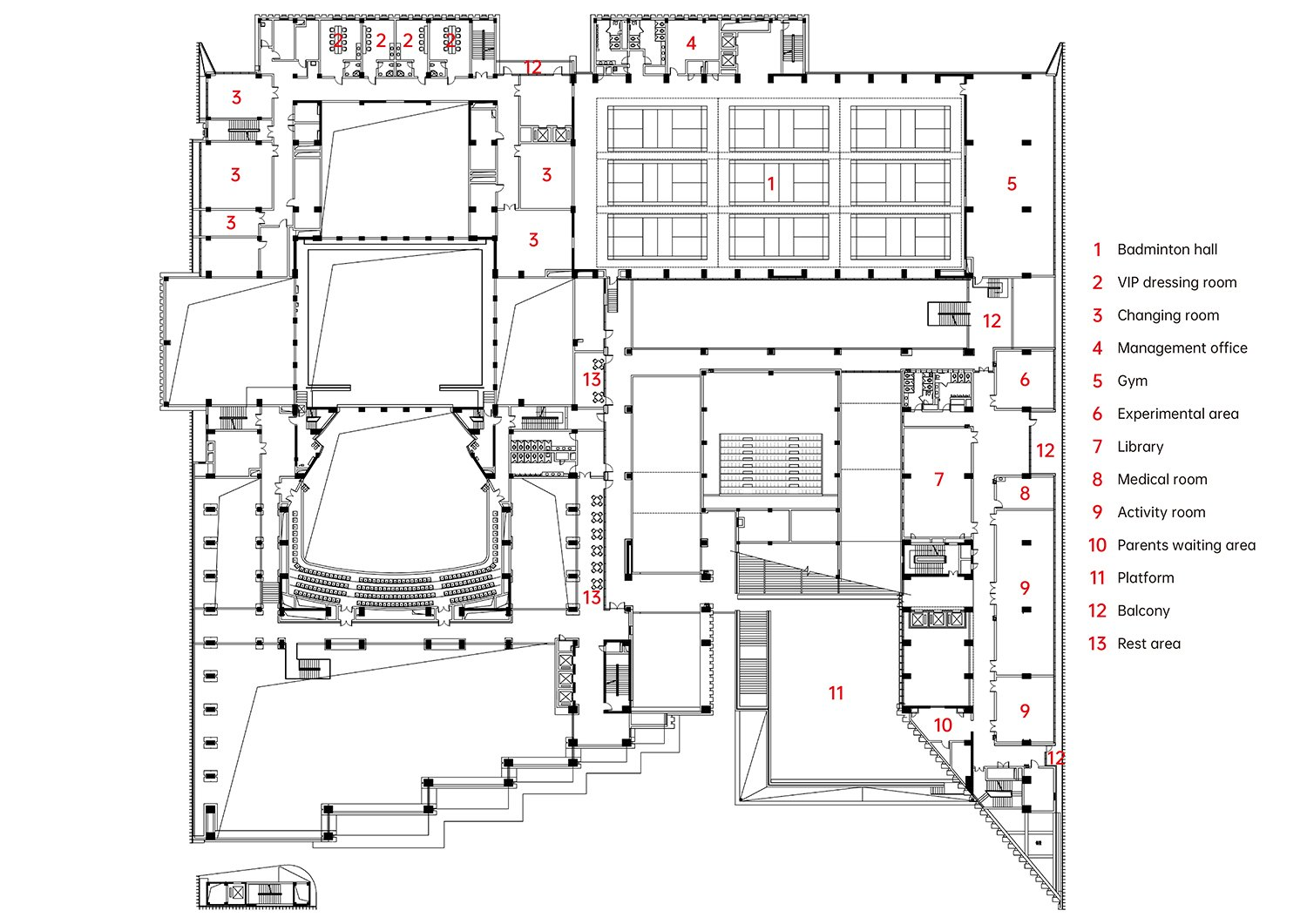 3rd Floor Plan The Architectural Design & Research Institute of Zhejiang University}