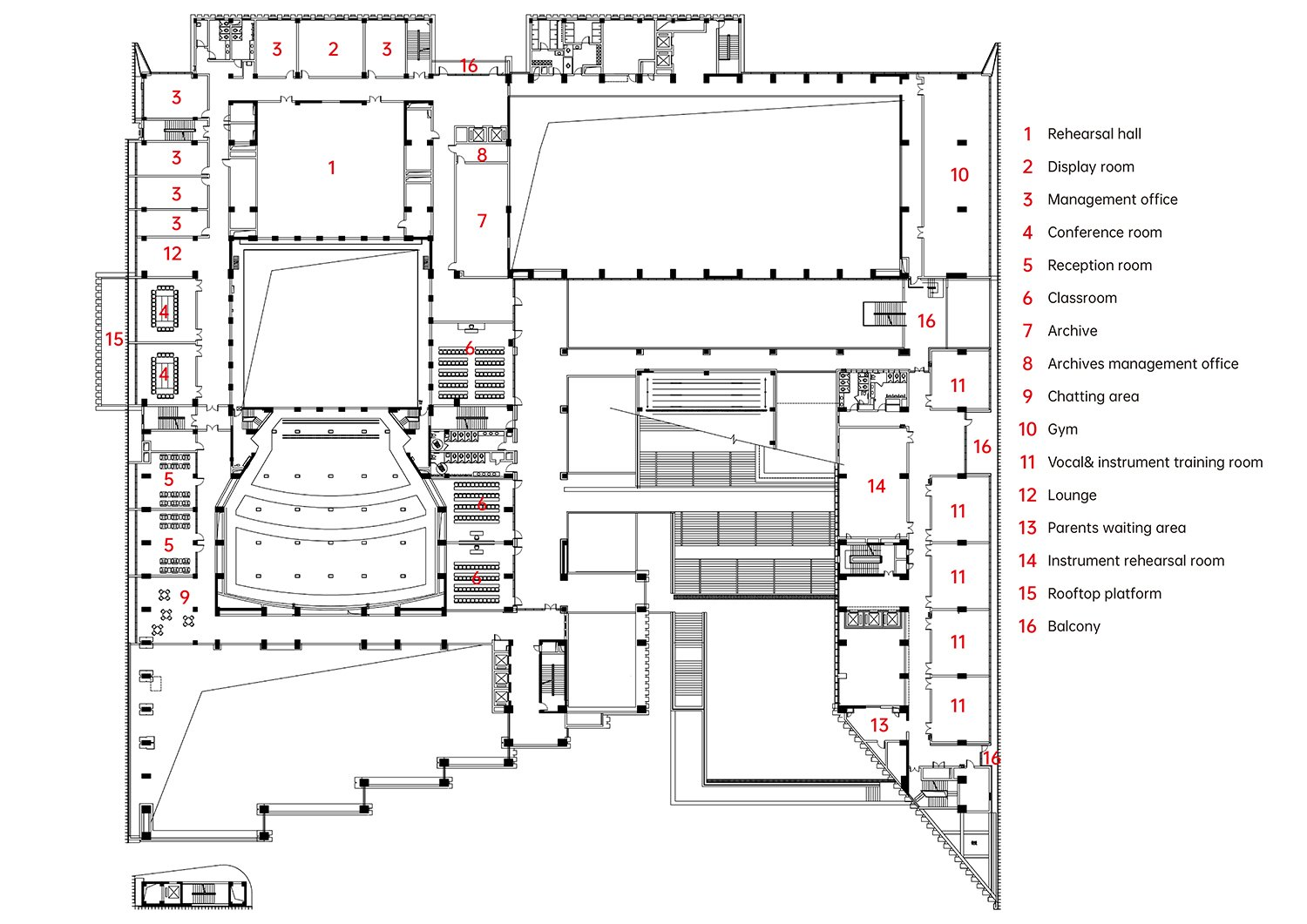 4th Floor Plan The Architectural Design & Research Institute of Zhejiang University}