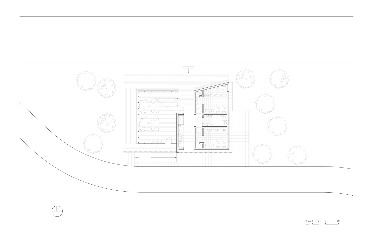 First Floor Plan of River View Service Station No. 4 Atelier Z+}