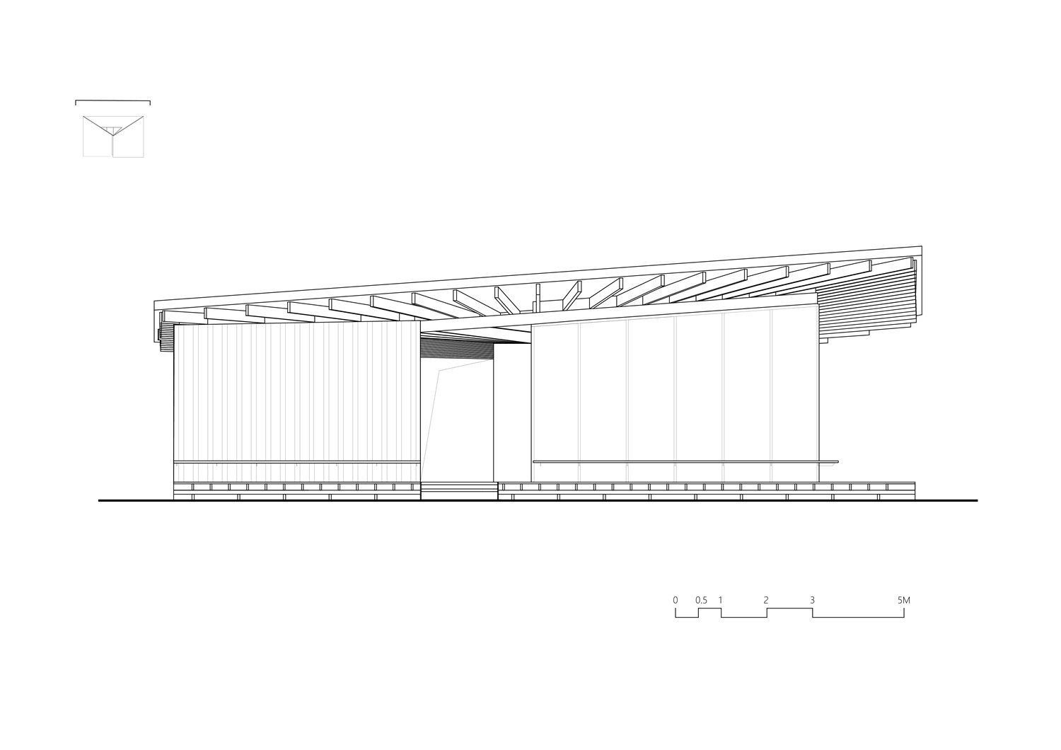 North Elevation of River View Service Station No.22 Atelier Z+}