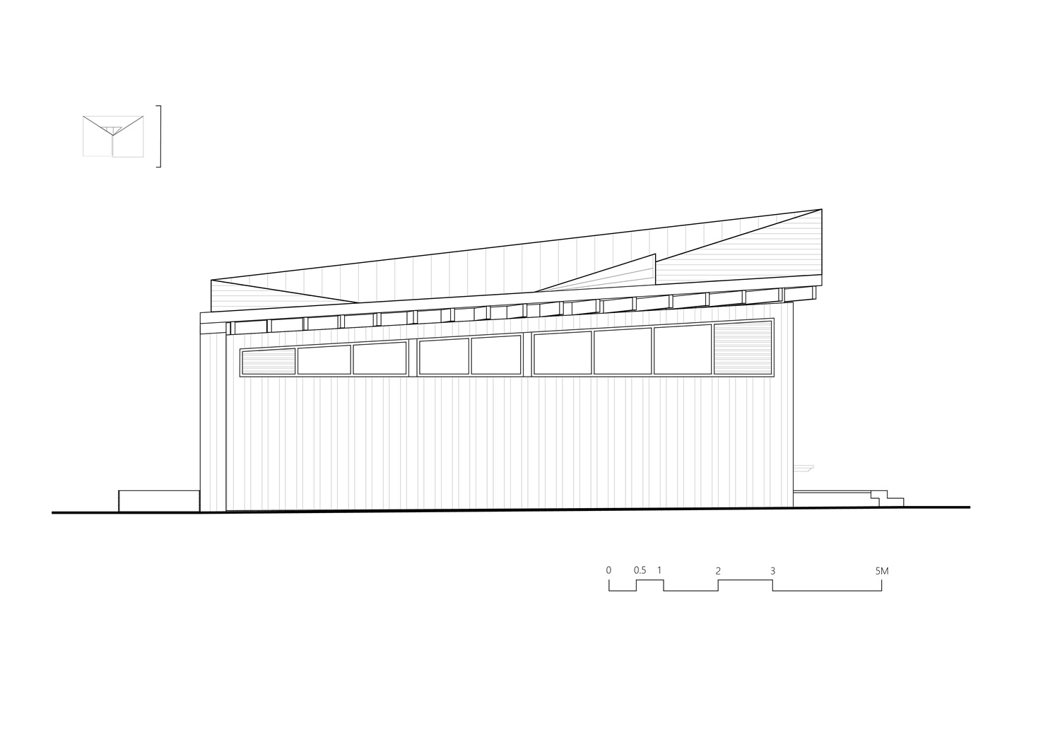 East Elevation of River View Service Station No.22 Atelier Z+}