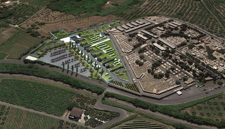 complesso cimiteriale - vista di progetto Guendalina Salimei - TStudio}