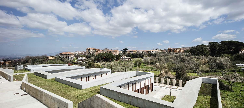 complesso cimiteriale - inserimento nel paesaggio Luigi Filetici