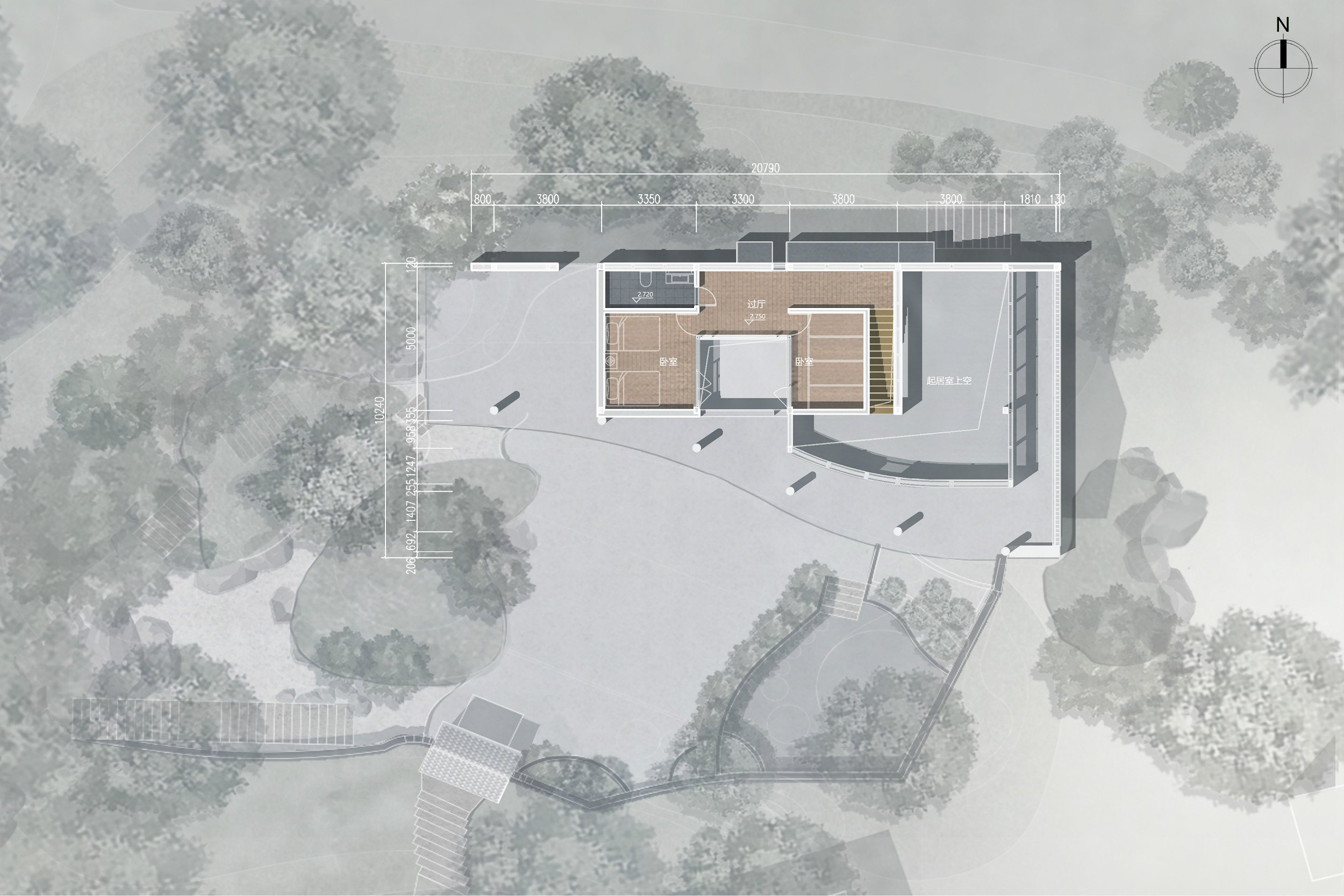Second Floor Layout RSAA/Büro Ziyu Zhuang}