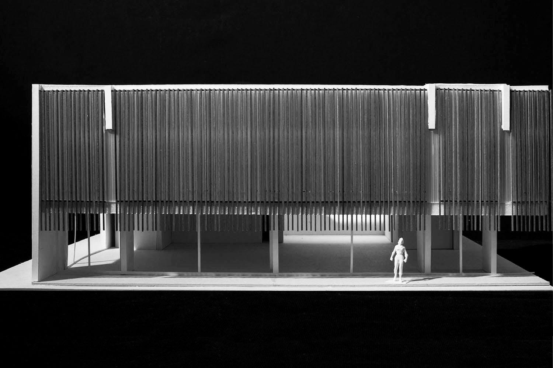 Urban Open Laboratiories, south facade detail model ZAA}
