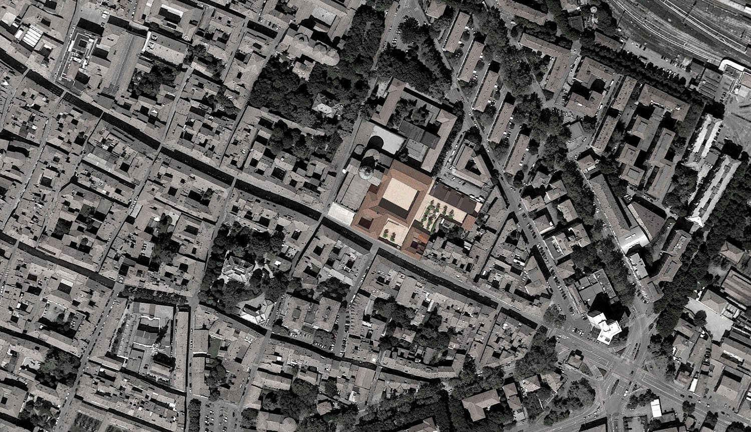Orthophoto with Cloisters of San Pietro ZAA}