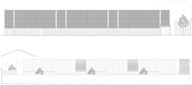 Urban Open Laboratiories, longitudinal elevation ZAA}