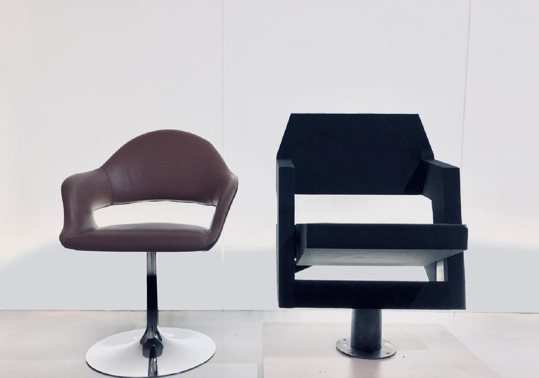 Seat before (Charlotte Perriand) after (Giampiero Peia) Peia Associati}