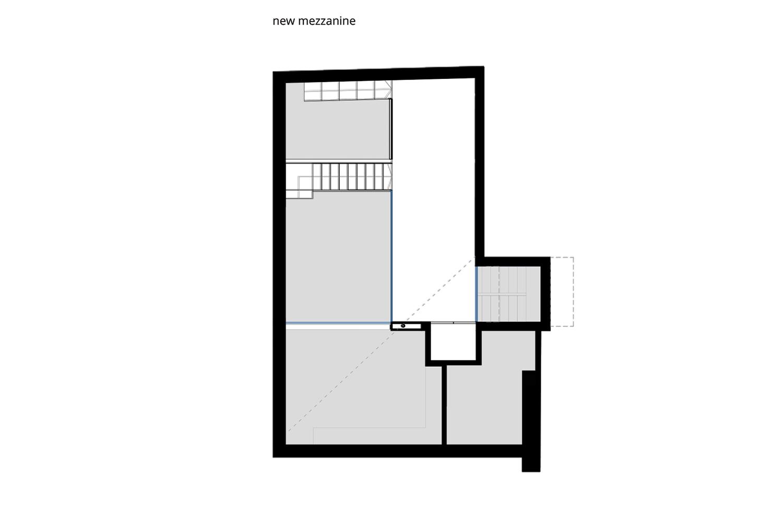 Mezzanine - Original and Project Configuration NAT OFFICE - christian gasparini architect}
