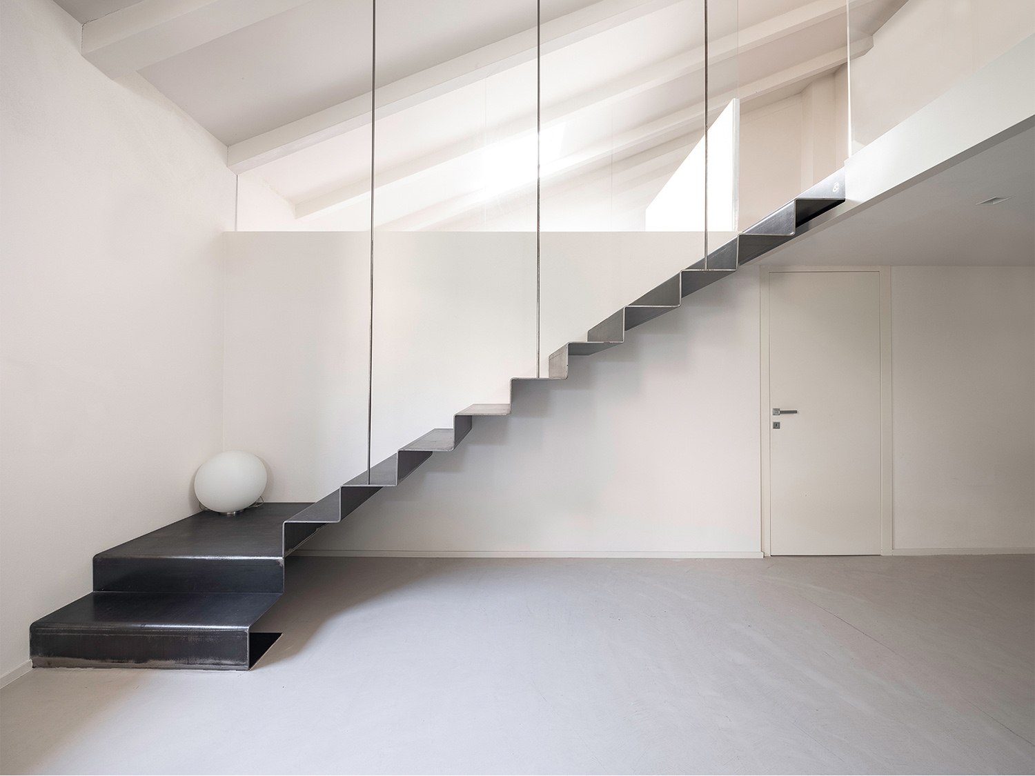 Second Floor - Folded Steel Stairs Filippo Poli Photography