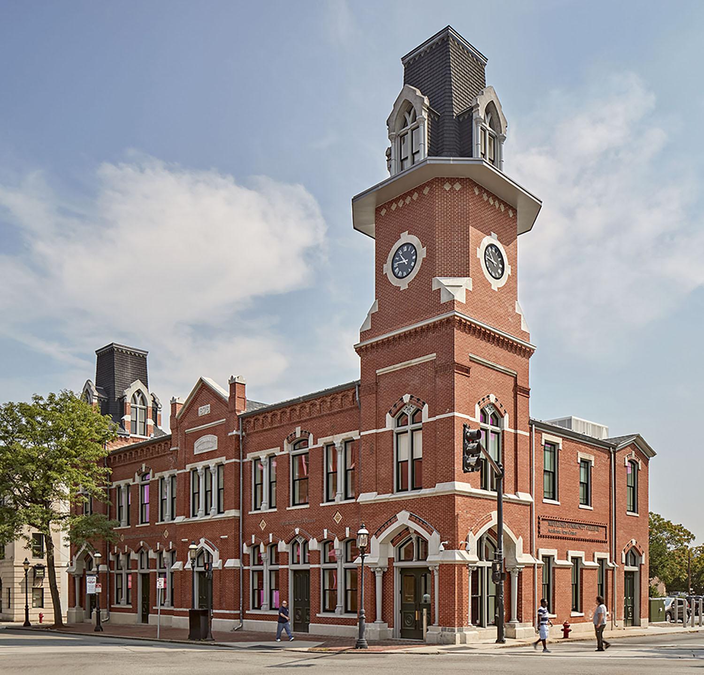 Façade of the Re-imagined Historic Train Depot Robert Benson