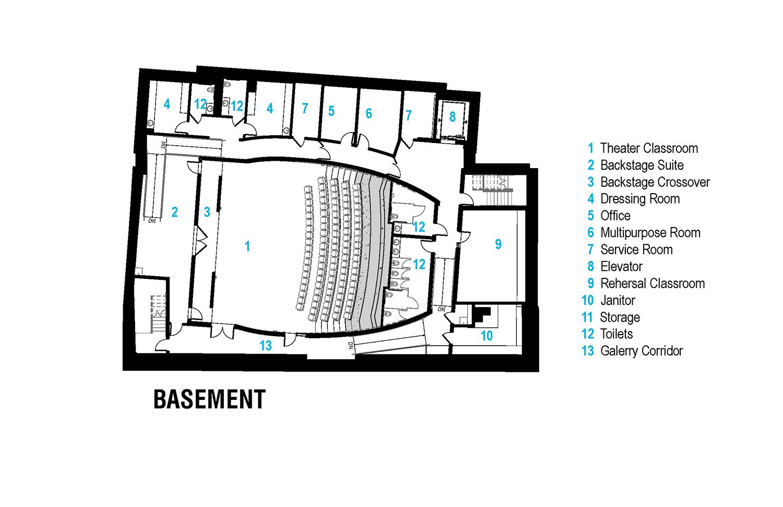 Basement Floor Plan Leers Weinzapfel Associates}