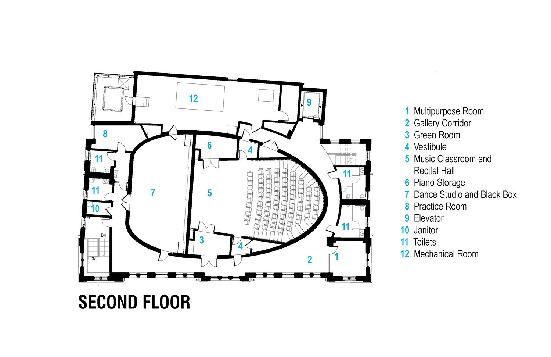 Second Floor Plan Leers Weinzapfel Associates}