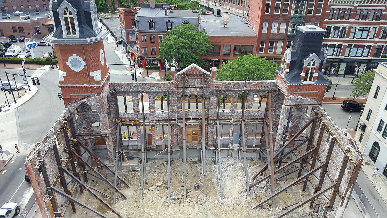 Facade Bracing During Construction Leers Weinzapfel Associates}