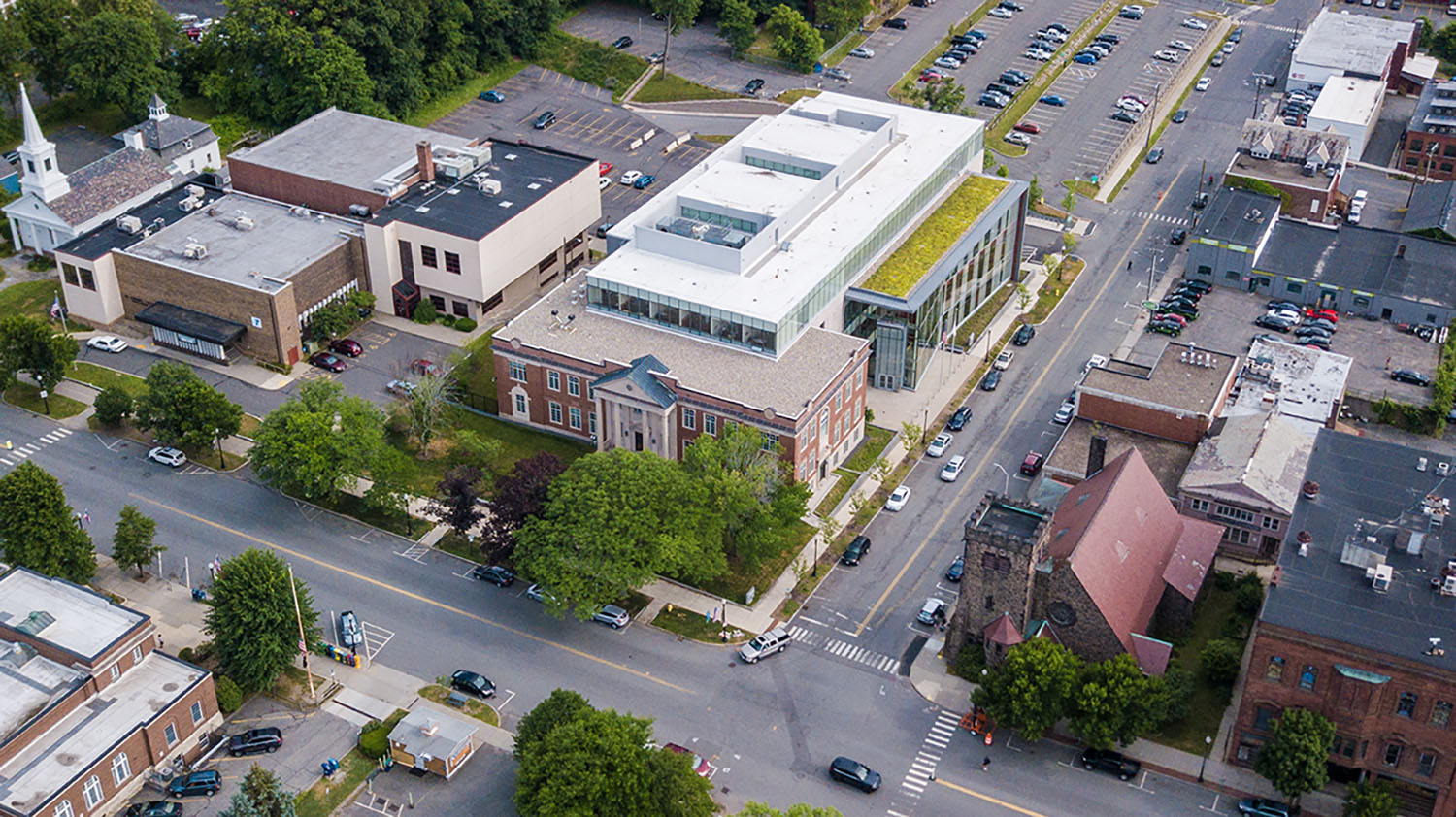 Site in a Small Scale Main Street Context, Franklin County Justice Center, Greenfield, MA Langer Hsu - Leers Weinzapfel Associates