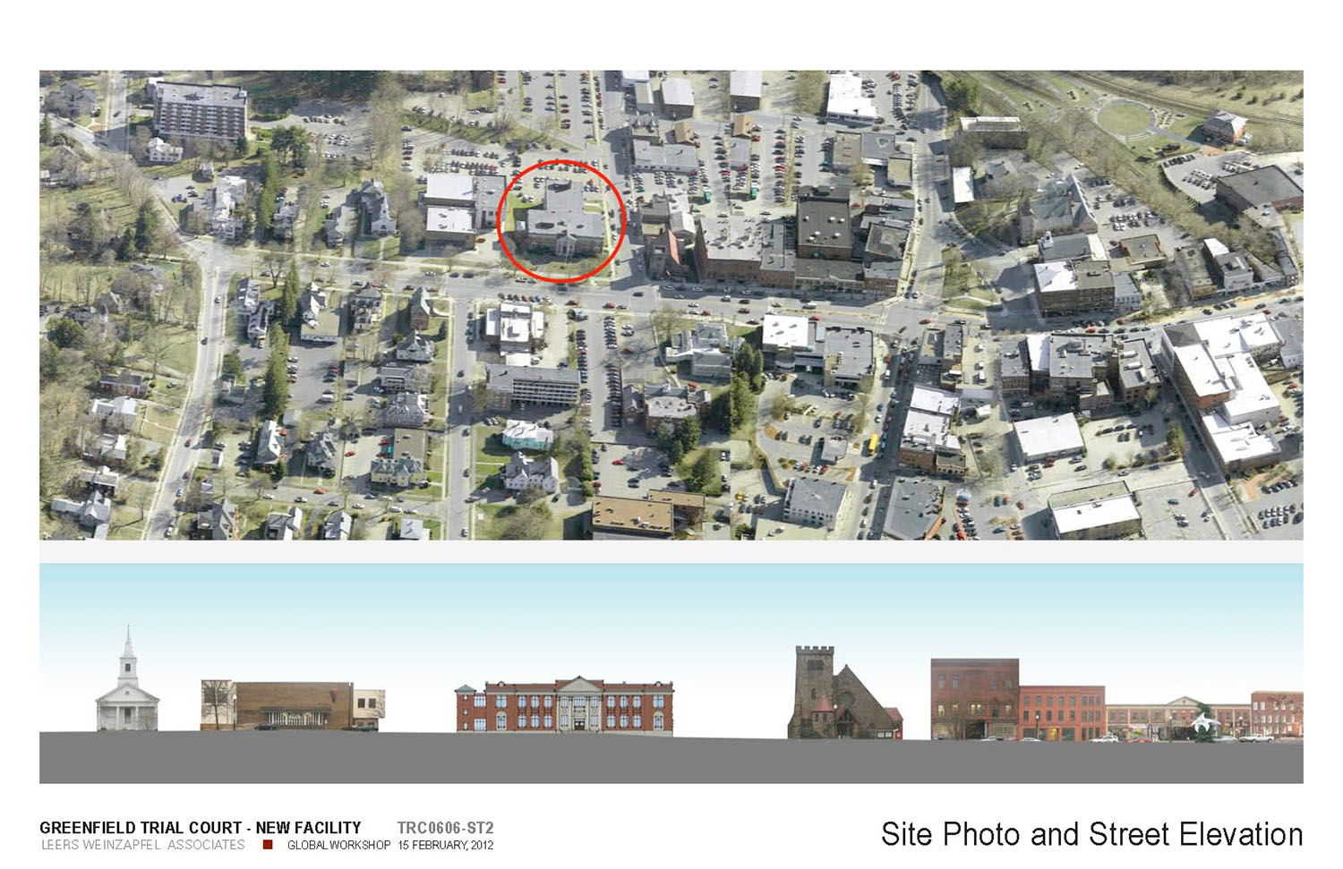 Site Aerial and Elevation of Context Leers Weinzapfel Associates}
