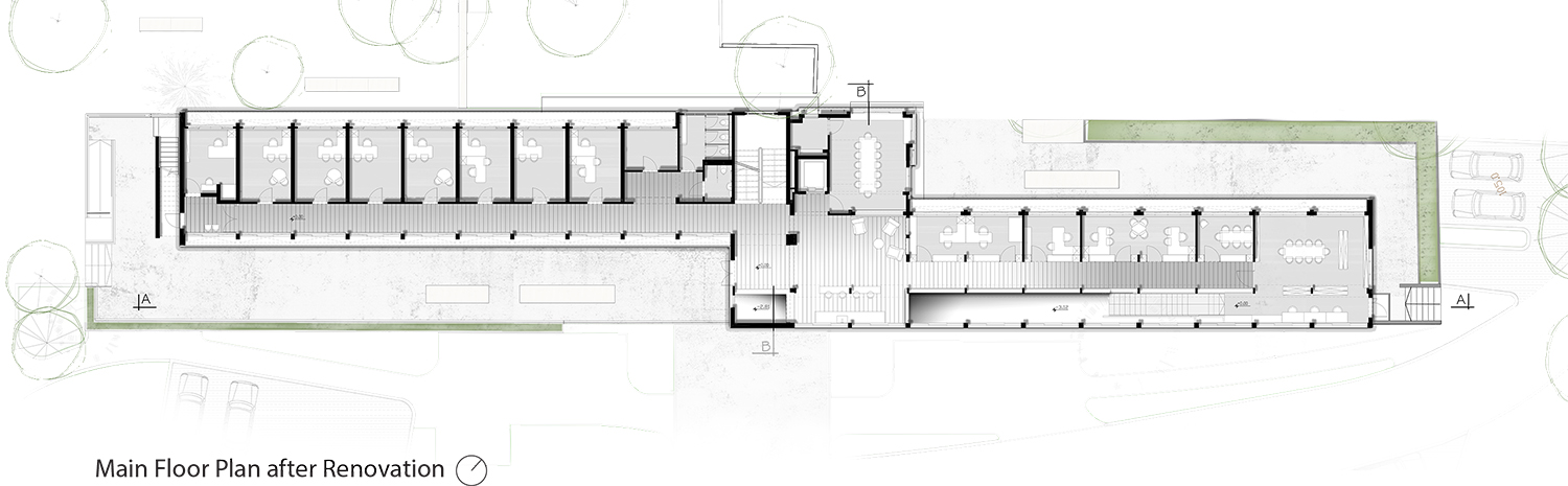Main Floor Plan (+0.00) After Renovation Ruth Liberty-Shalev Architecture & Conservation}
