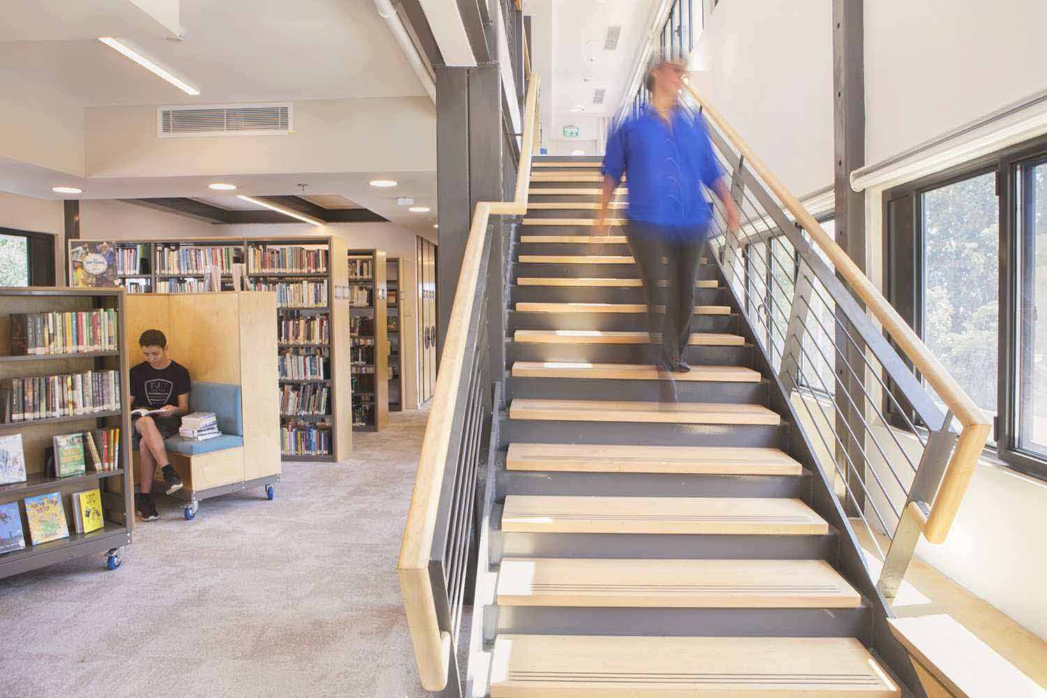New library shaft and stairs Omri Talmor