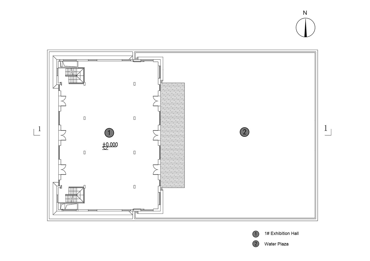 Plan of central exhibition hall courtesy of Sunyat}