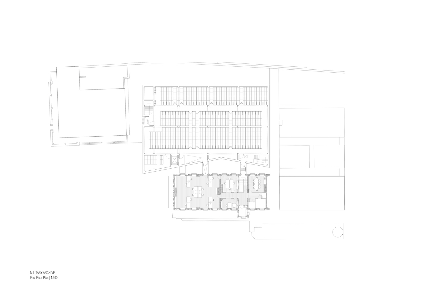Archives first floor plan McCullough Mulvin}