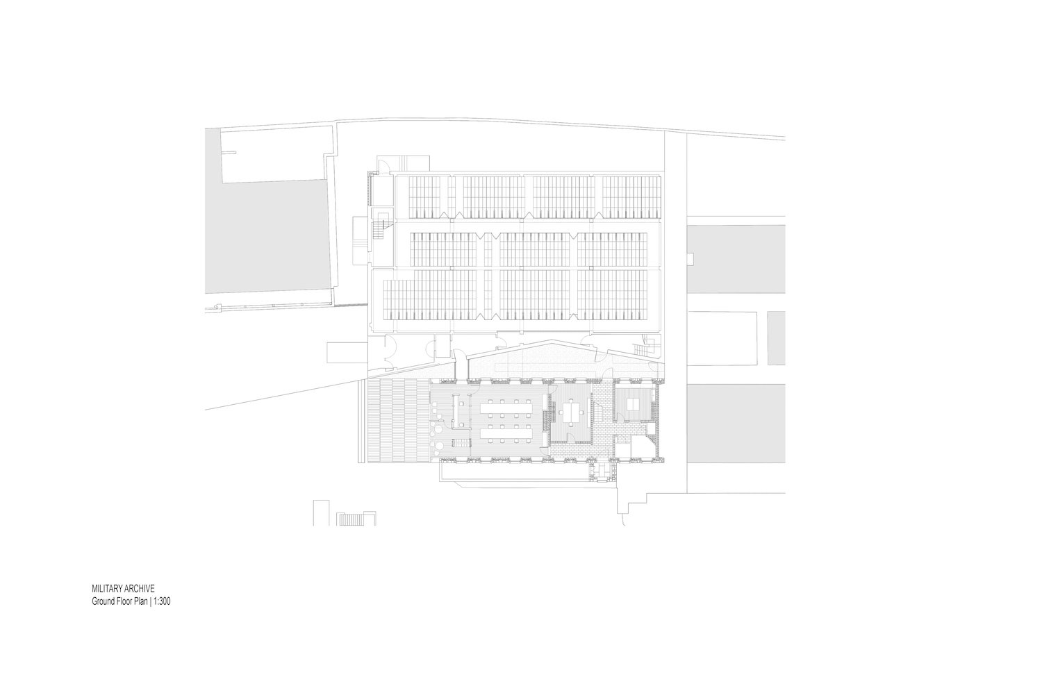 Archives ground floor plan McCullough Mulvin}