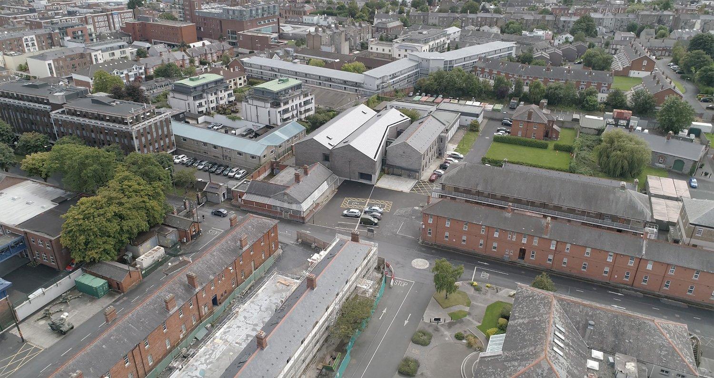 Aerial View of Cathal Brugha Barracks Barrow Coakley