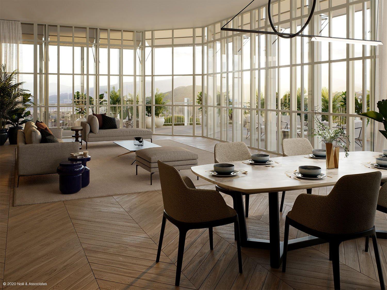 APARTMENT INTERIOR Render: Noë & Associates - Interior Tectoo srl