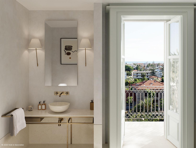 APARTMENT BATHROOM Render: Noë & Associates - Interior Tectoo srl