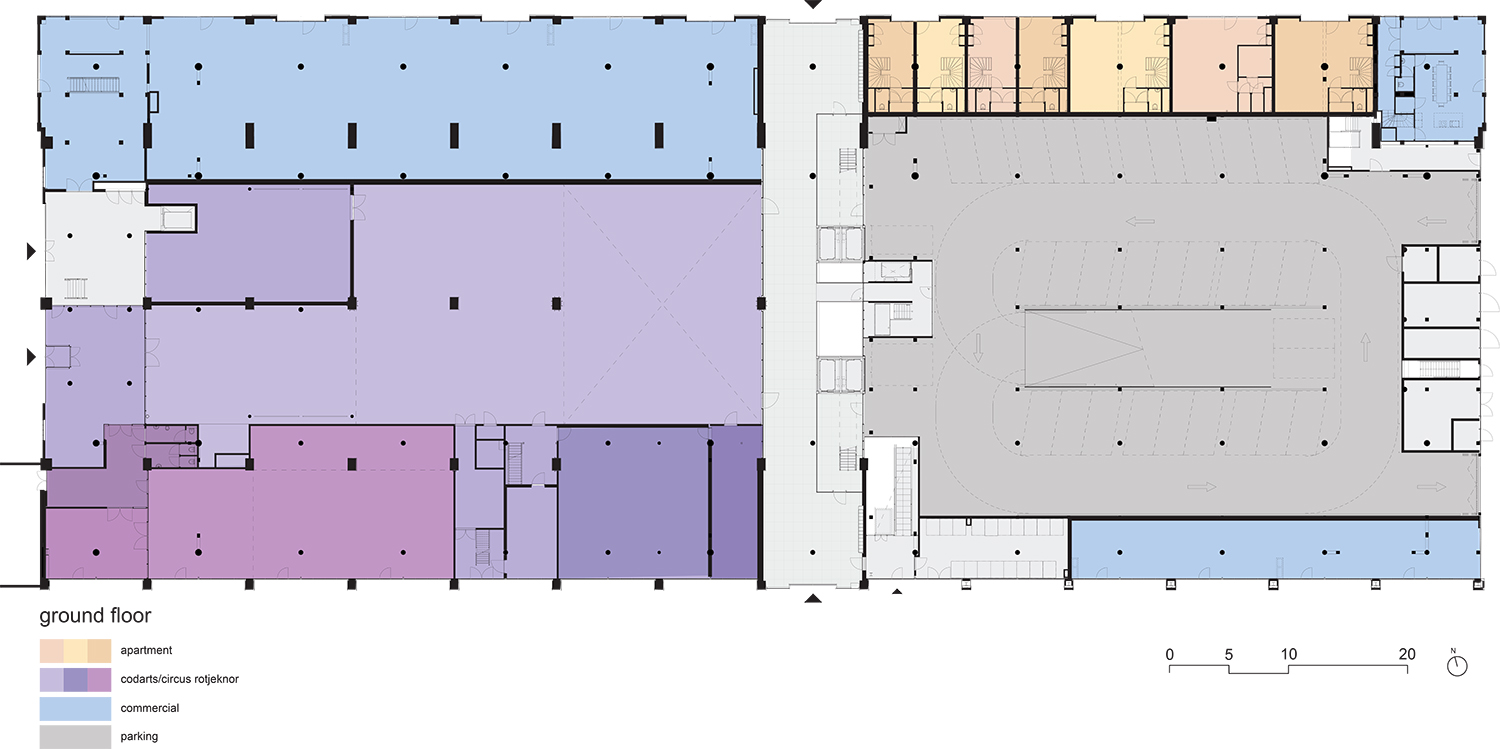 Plan ground floor fenix I Mei architects and planners}