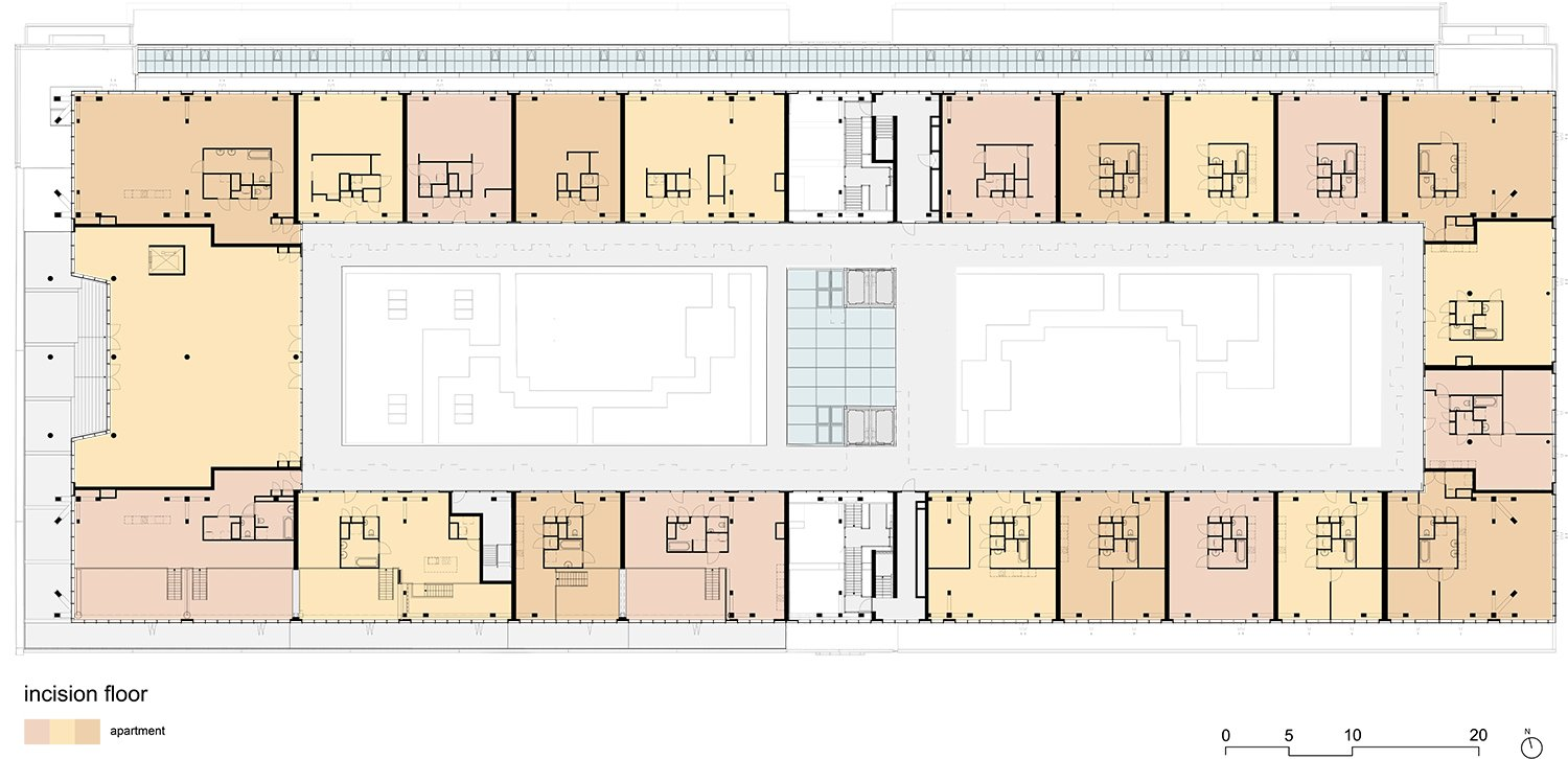 Plan Interlayer Fenix I Mei architects and planners}